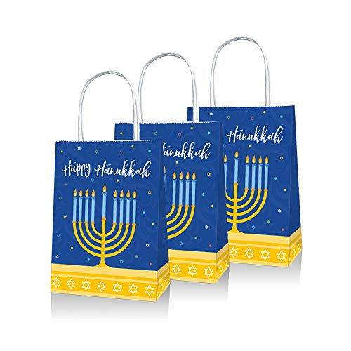 """Hanukkah Gift Bags, 6 x 8"""" Size, 5 Pcs,10Pcs, 20 Pcs Pack (10)"""