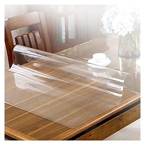 AYLYHD Mantel Antimanchas Rectangular, Transparente Rectangular Manteles Impermeable Sin Olor PVC Protector de Mesa para Cocina, Comedor, Exterior, Navidad (Color : 2mm, Size : 100x100cm)