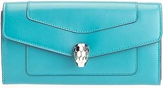 Luxury Fashion   Bulgari Womens 288023 Light Blue Wallet   Fall Winter 19