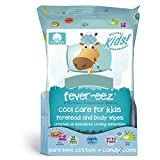 Natural Essentials Fever-eez Cool Care Forehead and Body Cooling Wipes for Kids and Babies, 32 Count...