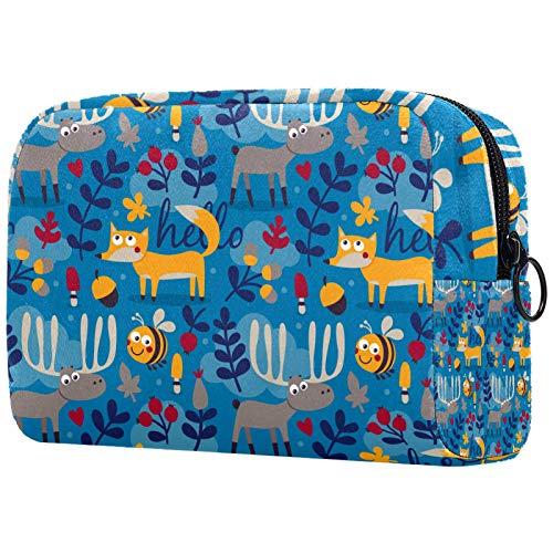 Reise-Kulturbeutel, Premium-wasserdichte Reisetasche mit verbessertem Reißverschluss, Wald, Blume, Fee, Schmetterling