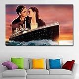 Rompecabezas 1000 piezas Titanic Boat Pintura Arte Pareja Pintura Decorativa Jigsaw Puzzle 1000 Piezas Adultos Gran Vacaciones Ocio Interactivo Juegos Familiares