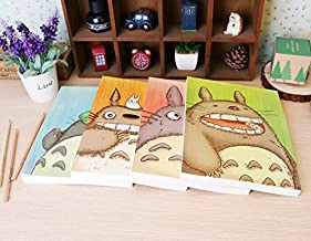 Thedmhom Cute Cartoon Anime Cat 16K Totoro Sketchbook Notebook Graffiti Thickened Art Blank Painting Sketch Paper Glued Homework Diary Books Journal Prizes Office School Kids(1 Pcs (Cover Random))