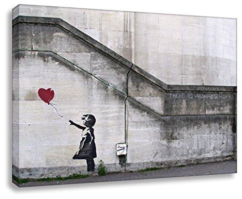 Kunstbruder Banksy Foto auf Leinwand/Always Hope/Kunstdruck Wandbild Leinwandbild (60x80cm)