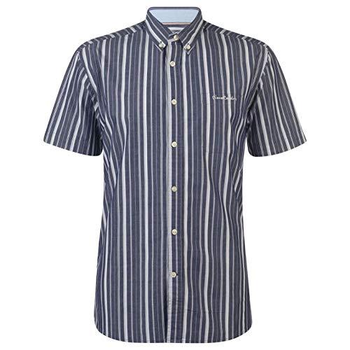 Pierre Cardin - Camisa de rayas para hombre, manga corta