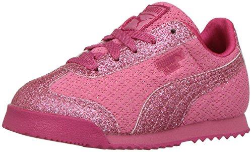 PUMA Baby Roma Glitz Glamm Mesh Kids Sneaker, Rapture Rose, 7 M US Toddler