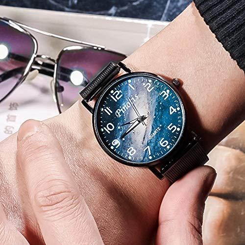 Powzz - Reloj inteligente para mujer, diseño de estrella, con esfera digital