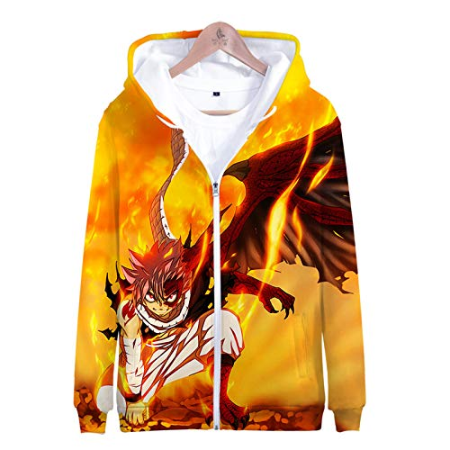 YJXDBABY-Fairy Tail-Sweats Imprimés en 3D, Pulls Zippés À Manches Longues, Vestes pour Enfants, Tops Respirants Décontractés, Sorties Printanières, Sweats À Capuche De Plage-S