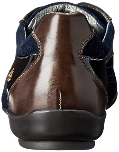 Mezlan Men's Vega Fashion Sneaker, Brown/Navy, 10.5 M US