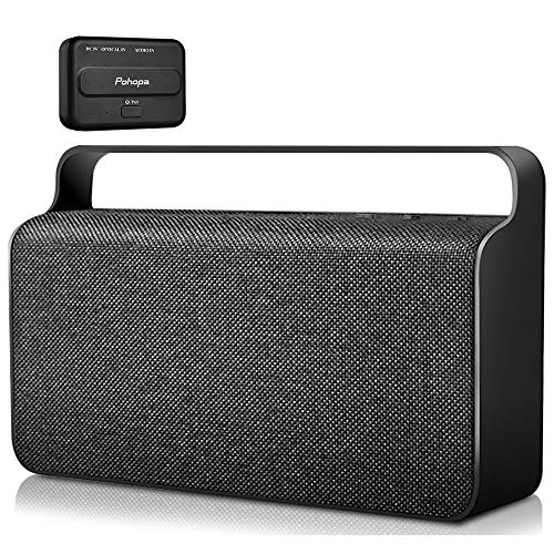 Wireless TV Speaker - Pohopa Portable New TV Soundbox, TV Audio Hearing Assistance with Transmitter 10W Speaker for Smart TV, Hard of Hearing Seniors