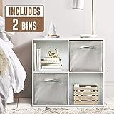 CAP LIVING 4/6/8 Cube Room Organizer Shelf, Storage Divider, 2 x 2/2 x 3/2 x 4 Bookcase, w/Cube Storage Bins Options, Espresso or White
