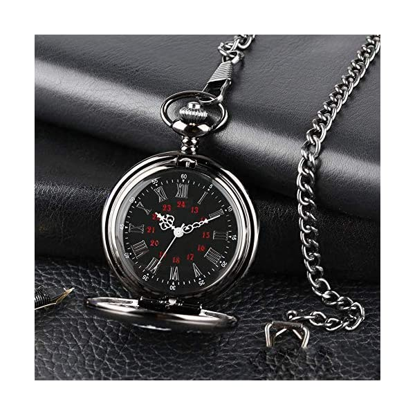 Kalapure 'To My Grandson' Pocket Watch Lockets Necklace Birthday Gifts for Grandson from Grandpa Grandma, Anniversary Gifts, Father's Day, Mother's Day, Thanksgiving, Christmas, Wedding, Graduation Gifts