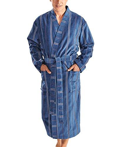 Otto Werner Velours Kimono gestreift jeansblaugestreift 66/68