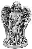 gartendekoparadies.de Massive Steinfigur sitzender Engel groß aus Steinguss frostfest