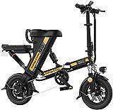 Bicicleta Eléctrica Bicicleta eléctrica plegable, neumáticos de 12 pulgadas, motor 240W, 36V 8-20HAH Batería de litio extraíble, bicicleta plegable portátil, 3 modos de trabajo Batería de litio Playa