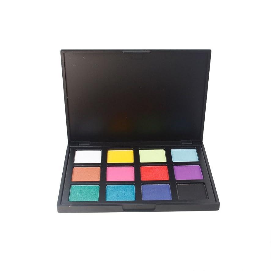 大洪水ブランド名独立して12色化粧品メイクアップアイシャドウパレットパールマットコンビネーションスモーキー