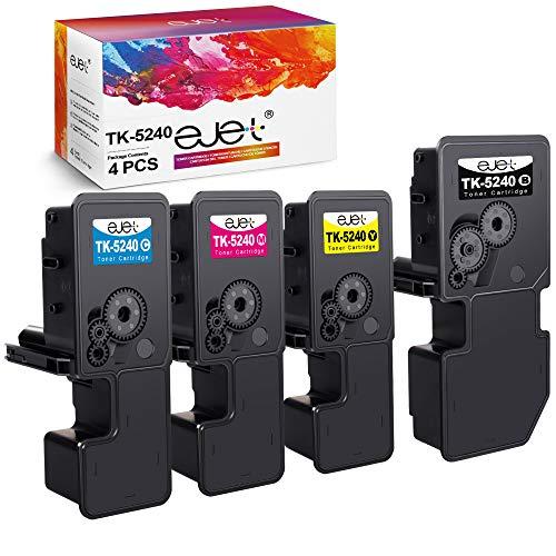 ejetTK-5240K Toner Kompatibel für Kyocera TK 5240 TK5240 für Kyocera Ecosys M5526cdw,M5526cdn,P5026cdw, P5026cdn (1 Schwarz,1 Cyan,1 Magenta,1 Gelb, 4-Pack)