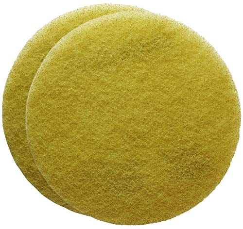 FLEXIS KGS Floor Cleaning & polishing Pads 17 inch, grit 1500 - Yellow (2 Pack)