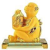 Statuen Reichtum Wohlstand Statue Feng Shui-Ornamente Chinese Zodiac Monkey Statue Home Office Table Top-Dekor Figurine Geschenkideen Dekoratives Wohnaccessoire
