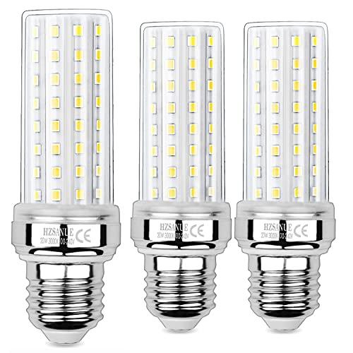 HZSANUE LED Maíz Bombilla 20W, 150W Incandescente Bombilla Equivalentes, 3000K Blanco Cálido, E27 Tornillo Edison Bombilla, 2000lm, 3 Pack
