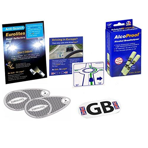 Travel Products Eurolites Déviateurs pour + alcoproof Lot de 2 + DRIVE droite et plaque aimantée GB