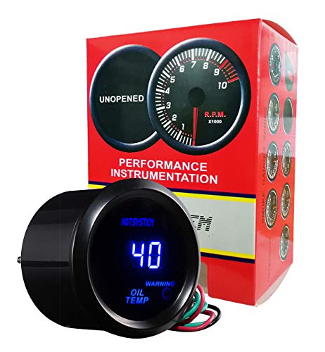 uxcell Universal 12V Red LED Waterproof Motorcycle Digital Tachometer Speedometer Gauge
