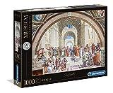 Clementoni- Puzzle 1000 Piezas Museos La Escuela de Atenas, Multicolor (39483.8)