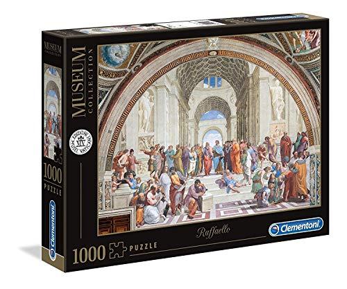 Clementoni- Puzzle 1000 Piezas Museos La Escuela de Atenas,
