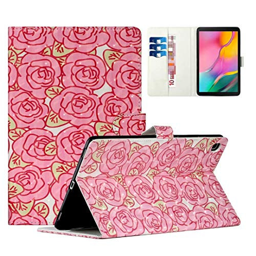 WVYMX Case for Galaxy Tab A7 10.4 T500, Cartoon Printed Slim Stand Hard Back Shell Protective Smart Cover for Samsung Galaxy Tab A7 10.4 Inch Model T500/505/507 Rose