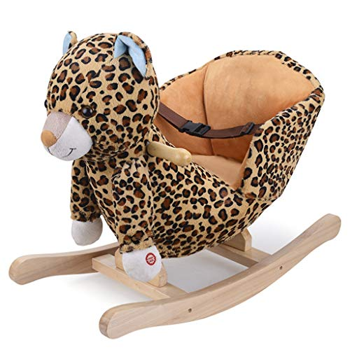 Review Of FJH Rocking Horses Rocking Horse Music Solid Wood Base Solid Wood Wheel Rocking Chair Chil...