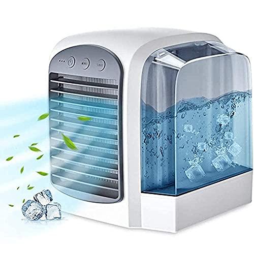 aire acondicionado, Evaporación Cooler Aire acondicionado Personal Acondicionamiento Portátil Evaporación Refrigerador de aire con edificio en la luz de agua de la noche Limpieza de aire 3 Velocidad d