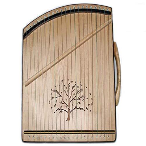 SXQ Tragbare Gu Zheng, chinesische Guzheng Instrument, Guzheng Exerciser mit Voll Zubehör/Rucksack geeignet for Anfänger/Professional/Erwachsene/Kinder, 21 Streicher (Color : A)