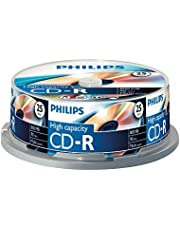 Philips CD-R blanco's (800 MB data/90 minuten, multi-speed opname, 25 spindel)