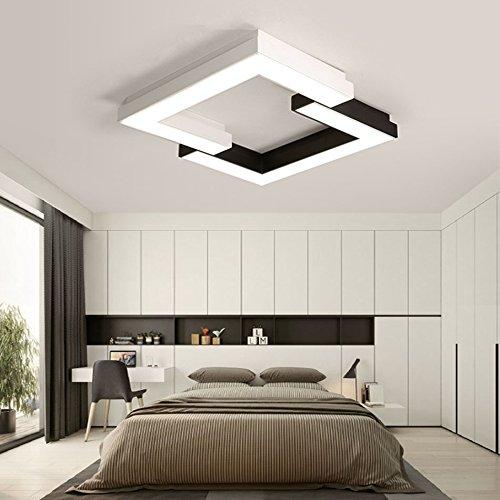 GPZ-iluminación de techo Moderna lámpara de techo LED, luces creativas del dormitorio Simple moderna cálida luces de la sala de moda Restaurante Lámparas de arte [Clase energética A ++]