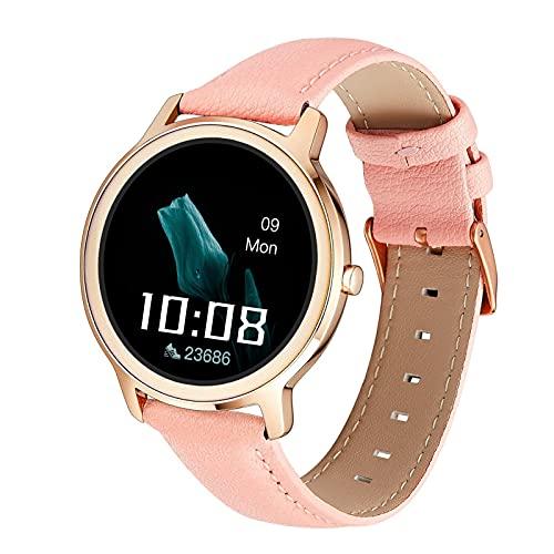 KaiLangDe Smartwatch Reloj Inteligente con Pulsómetro Cronómetros Calorías Monitor de Sueño Podómetro Monitores de Actividad Impermeable Reloj Deportivo para Pulsera (Color : Rose Gold)