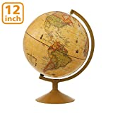 Best World Globes - World Globe, KingSo Antique Globe for Kids 12 Review