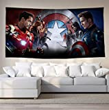 newolfend Personnages Marvel Animés Avengers Film Tissu Bar Personnalisé Restaurant...
