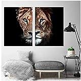 Leinwand Malerei Tier Wandkunst Gepard Leopard Landschaft