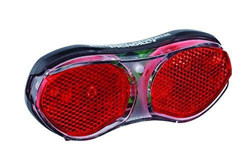 Büchel Piccadilly, LED Gepäckträger Rücklicht, 11,69 x 5,02 x 1,79 cm, schwarz, 50040
