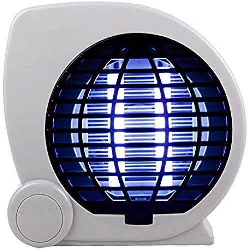 Lámpara repelente de mosquitos, lámpara silenciosa no tóxica para matar mosquitos LED Uv Choque eléctrico Inhalador de insectos Área efectiva 20-60㎡ Adecuado para dormitorio