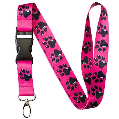 Animal Bug Themed Lanyard Key Chain ID Card Badge Holder (Doggie Paw)