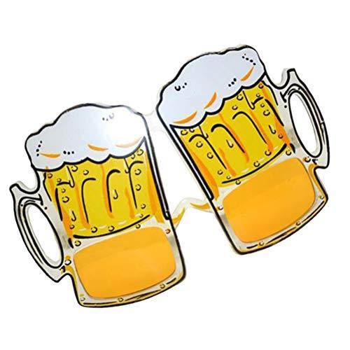 STOBOK 3 Piezas Creativas jarras de Cerveza anteojos Disfraz Divertido Gafas Gafas de Sol Fiesta Novedad decoracin Gafas fotomatn Accesorios