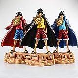 CXNY 20cm One Piece Luffy Anime Figura de acción Coleccionable PVC Juguetes para Regalo de navidad-3pcs / Set