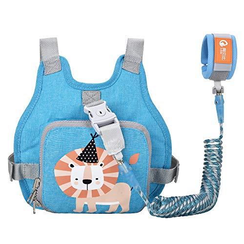 Kinder Sicherheitsleine, Kinder Leine Handgelenk, Anti-verloren Gürtel Handgelenk Rucksack (Blau)