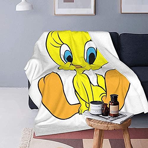 KINGAM Tweety Bird Ultraweiche Micro-Fleece-Decke, luxuriöse warme Mikrofaser-Decke für Bettwäsche, Sofa und Reisen, Erwachsene und Kinder, alle Jahreszeiten
