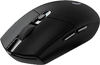 Logitech G - G305 LIGHTSPEED - Mouse Inalámbrico de Hasta 12,000 DPI con Iluminación RGB para Gaming - Negro