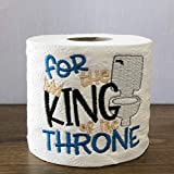King of the Throne Funny Novelty Embroidered Toilet Paper Gag Gift for Men