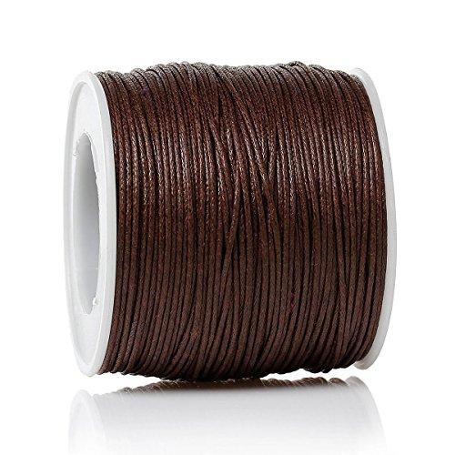 SiAura Material 1 Rolle Schnur Wachsschnur Dicke 0,5mm, 90m, Braun