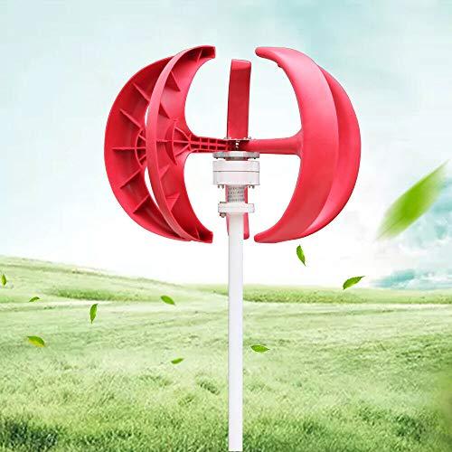 WUPYI2018 Windgenerator, Windturbine, 600 W, 24 V, elektrisch, Windgenerator, Weiß, Windlicht, vertikal, 5 Flügel, für Windrad, mit Controller ohne Pfosten