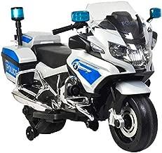 Rosso Motors Kids Police rideon Motorcycle Bike Car 12V